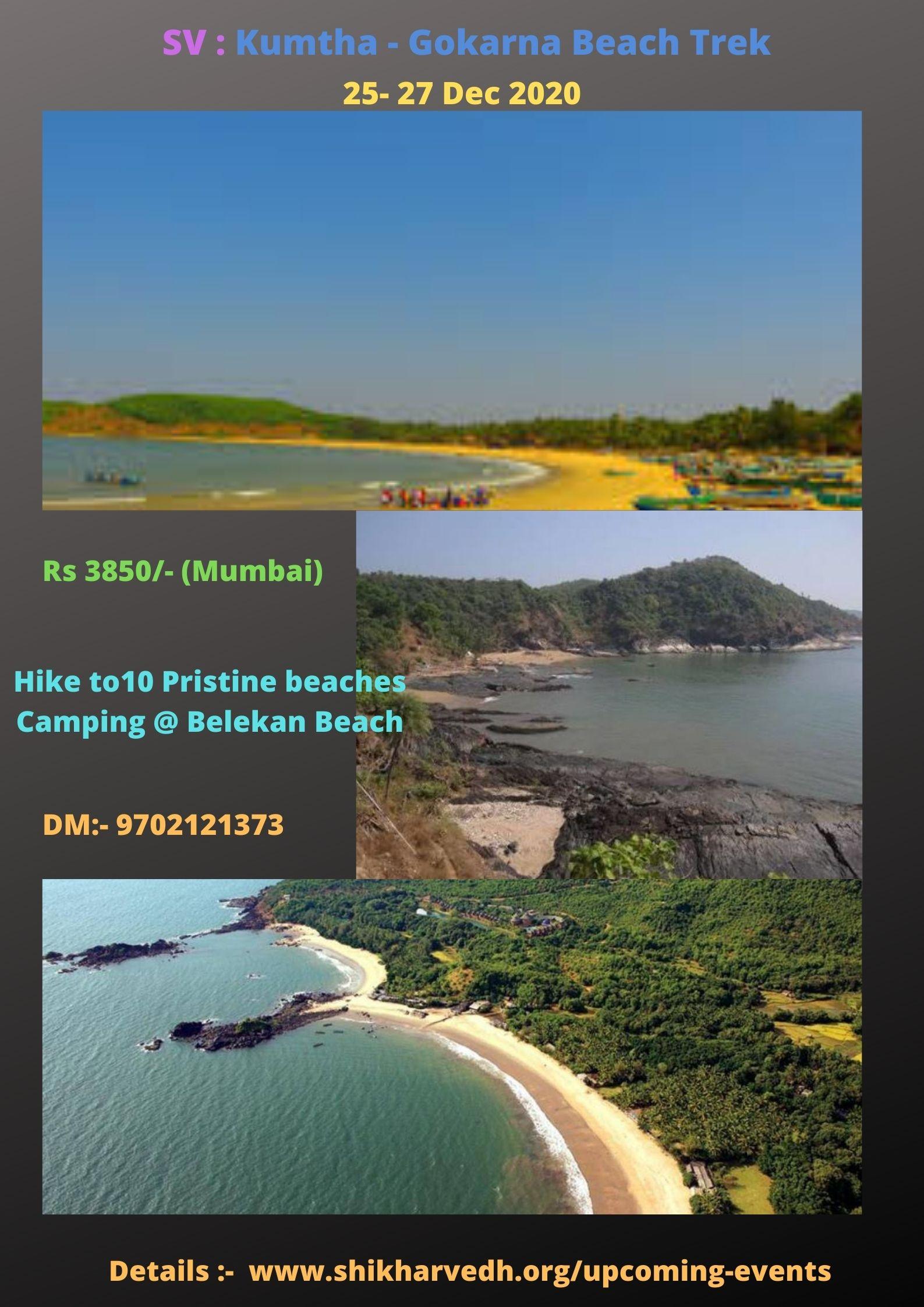 Kumtha - Gokarna Beach Trek